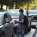 Роздача водіям у Львові